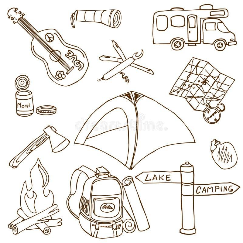 Campeggio illustrazione di stock