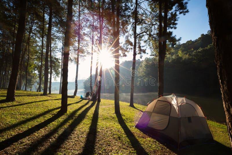 campeggio fotografia stock