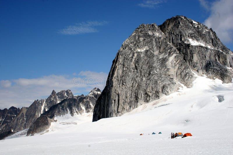 Campeggio della neve fotografia stock