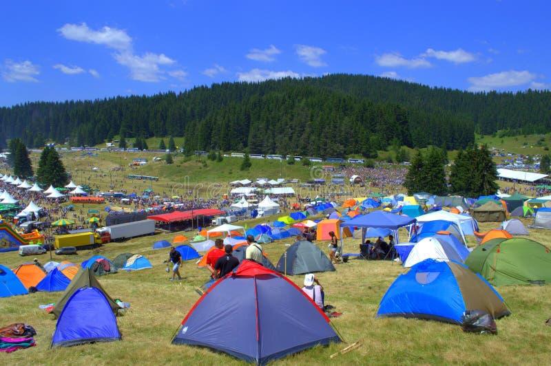 Campeggio Rozhen correttamente, la Bulgaria immagini stock libere da diritti