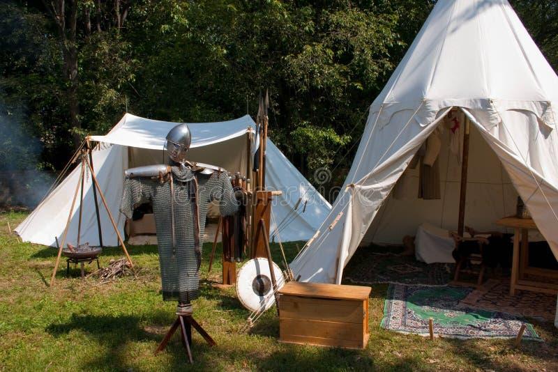 campement médiéval photographie stock