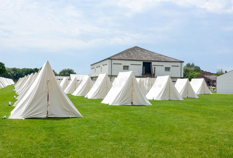 Campement militaire photos stock