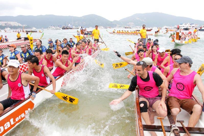 Campeonato 2012 do barco do dragão de Hong Kong Int'l imagens de stock