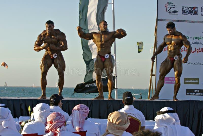 Campeonato 26 del Bodybuilding de DUBAI de la ZAMBULLIDA del CIELO imagen de archivo