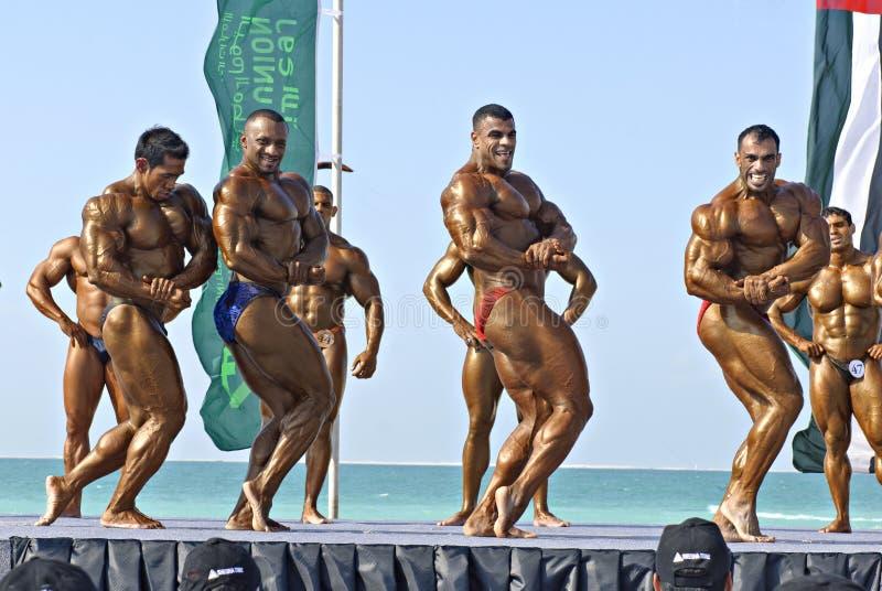 Campeonato 3 del Bodybuilding de DUBAI de la ZAMBULLIDA del CIELO fotos de archivo