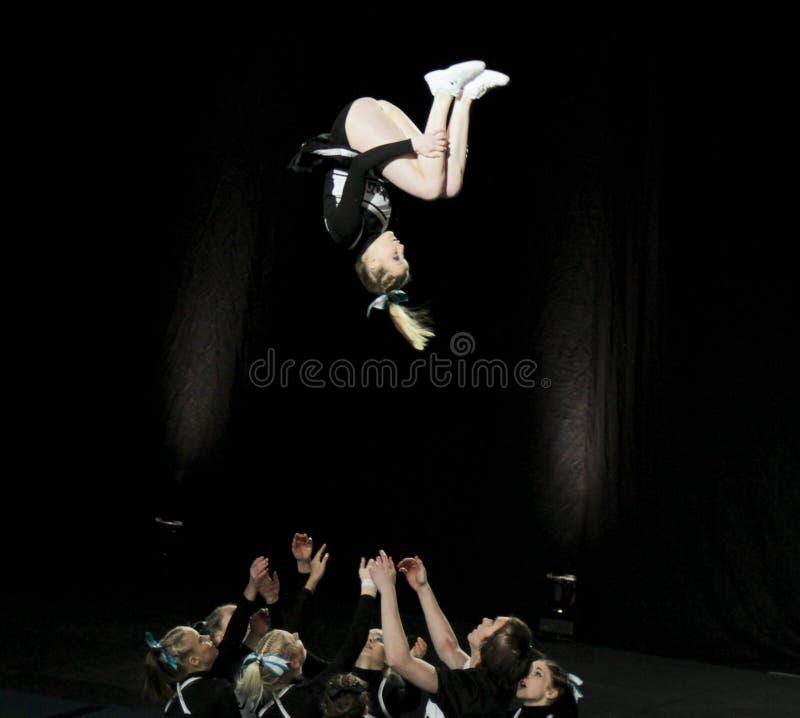 Campeonato Cheerleading de Finlandia 2010 imagens de stock