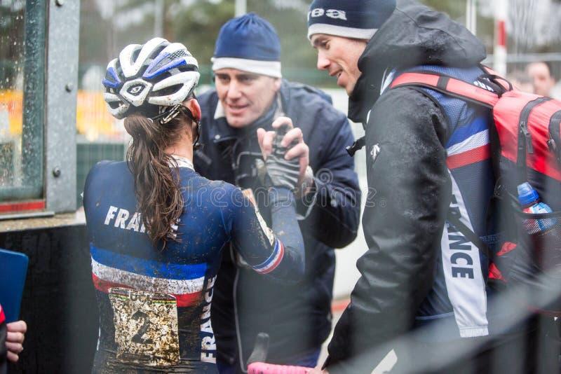 Campeonato Cyclocross - Heusden-Zolder, Bélgica del mundo de UCI fotografía de archivo libre de regalías