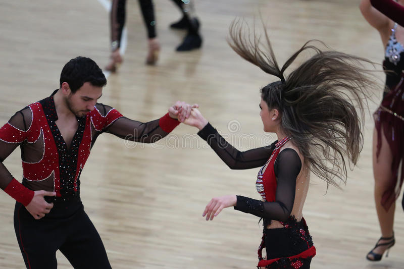 Campeonato da dança da salsa foto de stock royalty free