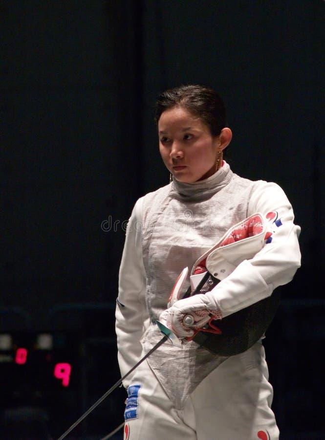 Campeonato de cercado del mundo 2006 - Nam Hyun Hee imagen de archivo