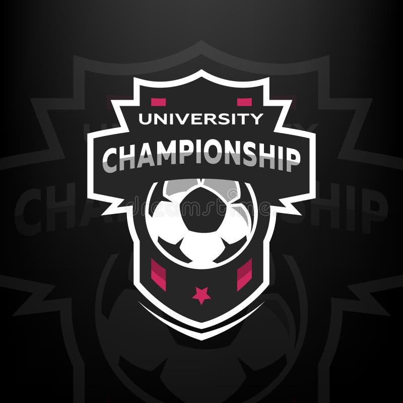 Campeonato de la universidad, logotipo del fútbol libre illustration