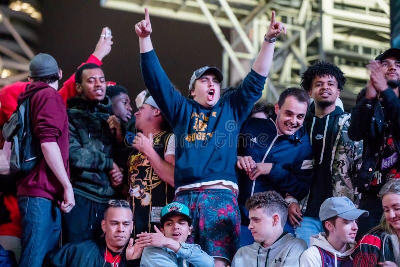 Campeonato de NBA del triunfo de Toronto Raptors - Toronto, Canadá - 14 de junio de 2019 imagen de archivo