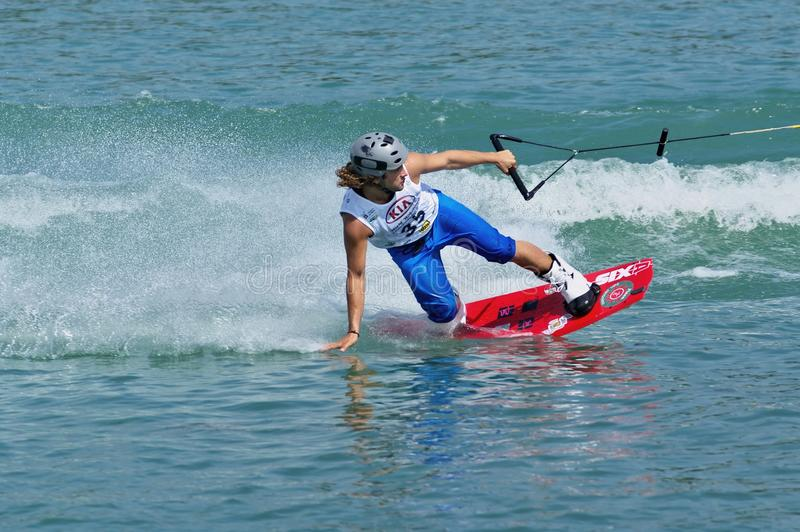 Campeonato de Wakeboard do mundo fotografia de stock