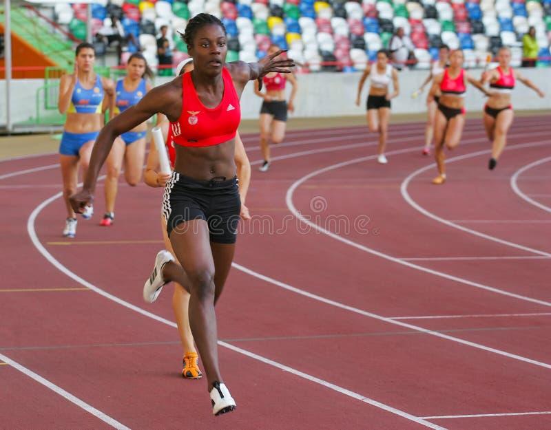 Campeonato del atletismo, Ungudi Quiwacana fotografía de archivo libre de regalías