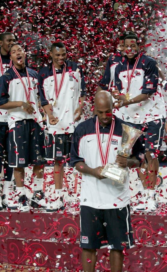 Campeonato del baloncesto del mundo foto de archivo libre de regalías
