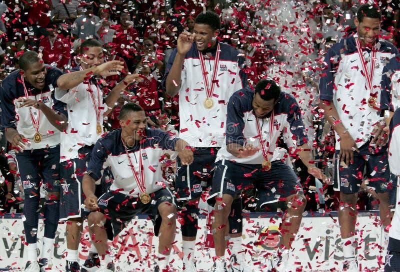Campeonato del baloncesto del mundo imagenes de archivo