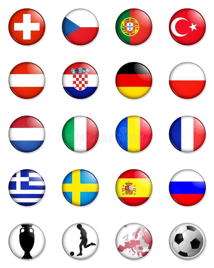 Campeonato del europeo del euro 2008 ilustración del vector
