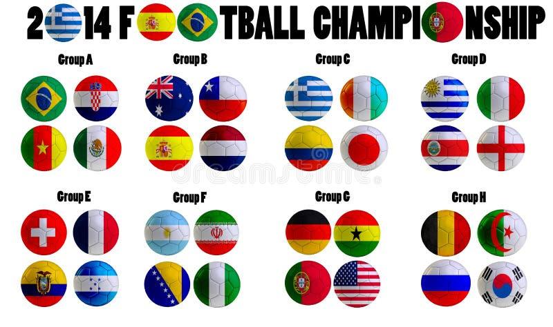 Campeonato 2014 del fútbol stock de ilustración