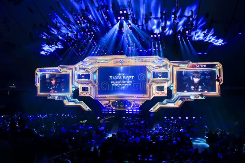 Campeonato del mundo de BlizzCon2015 Starcraft fotografía de archivo libre de regalías