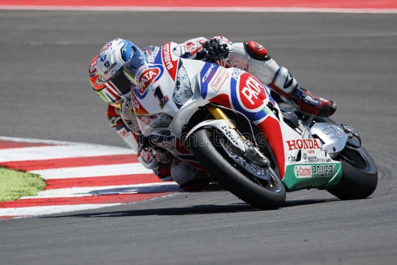 Campeonato del mundo del Superbike de la FIM - raza 2 imágenes de archivo libres de regalías