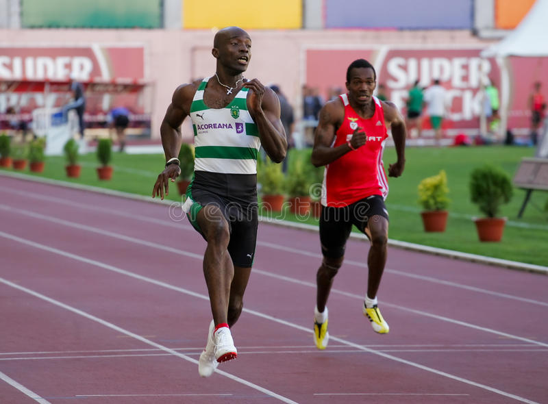 Campeonato do atletismo, Francis Obikwelu fotos de stock