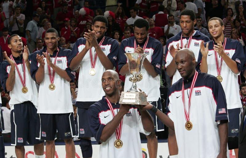 Campeonato do basquetebol do mundo foto de stock royalty free