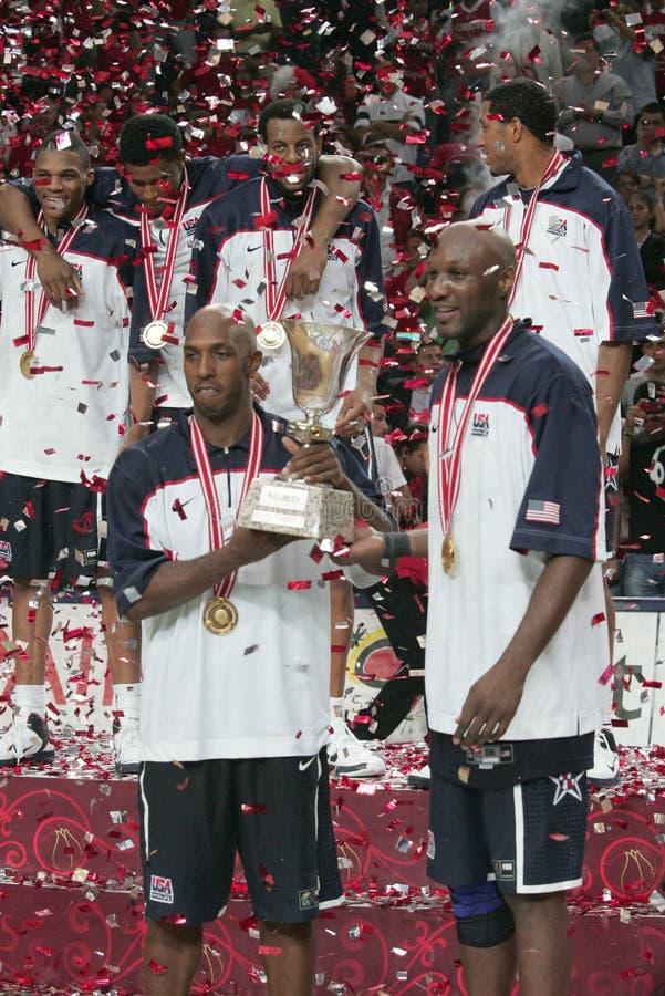 Campeonato do basquetebol do mundo foto de stock