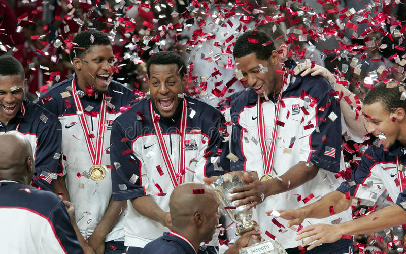 Campeonato do basquetebol do mundo fotos de stock royalty free