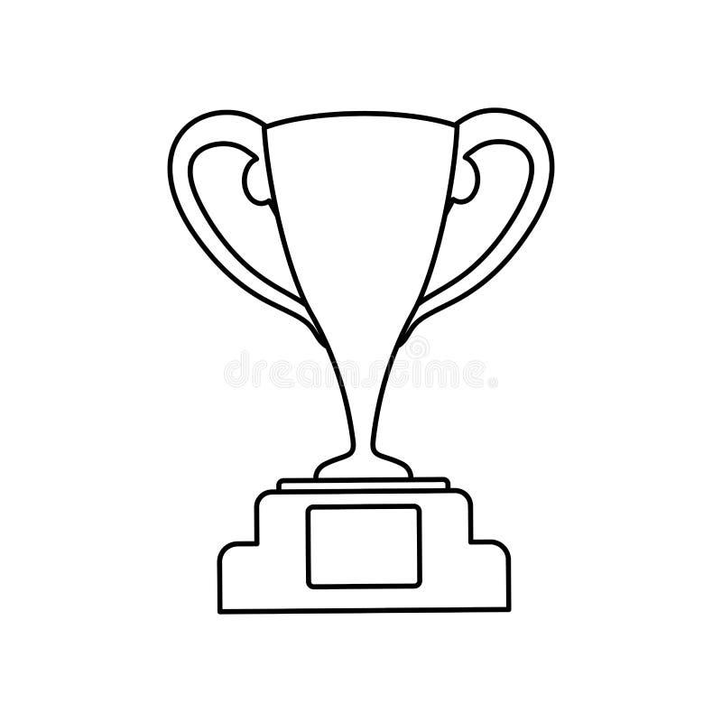 Campeonato do copo do troféu ilustração stock