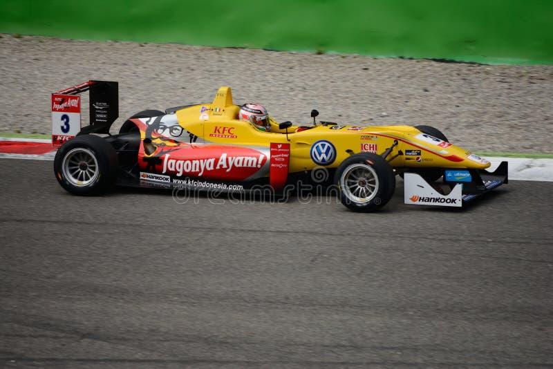 Campeonato do europeu de FIA Formula 3 em Monza 2015 foto de stock