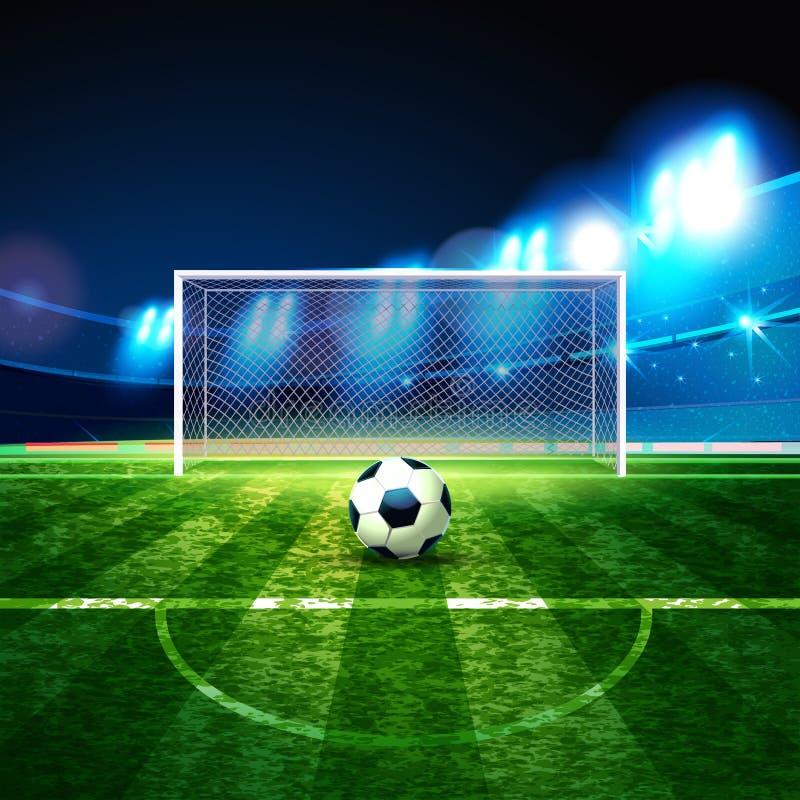 campeonato 2018 do futebol Futebol arquivado ilustração stock