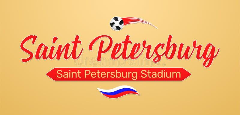 Campeonato do futebol do mundo em Rússia 2018 ilustração stock