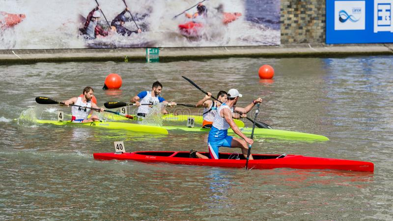 Campeonato do mundo 2017 Canoeing da maratona de China Shanghai Jingan Shaoxing imagem de stock royalty free