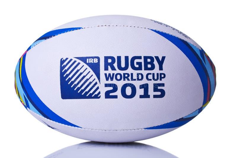 Campeonato do mundo da bola de rugby para a parte dianteira 2015 sobre fotos de stock