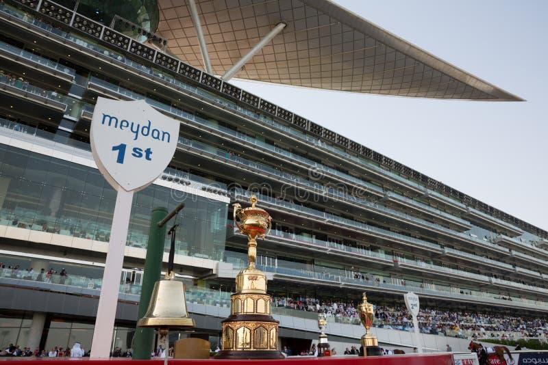 Pista de corridas de Meydan fotos de stock