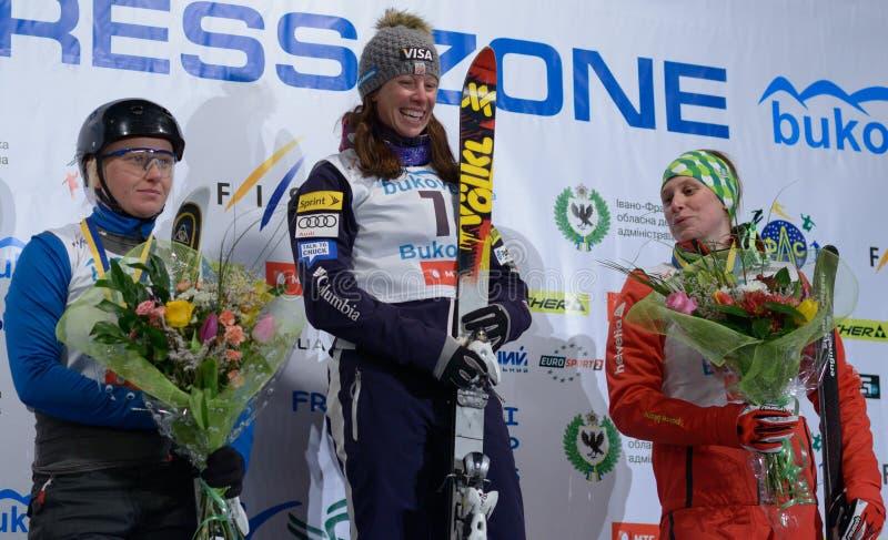 Campeonato do mundo do esqui do estilo livre imagem de stock royalty free