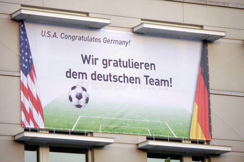 Campeonato do mundo do futebol imagem de stock