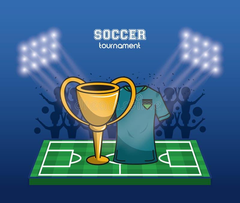 Campeonato do mundo do futebol ilustração stock