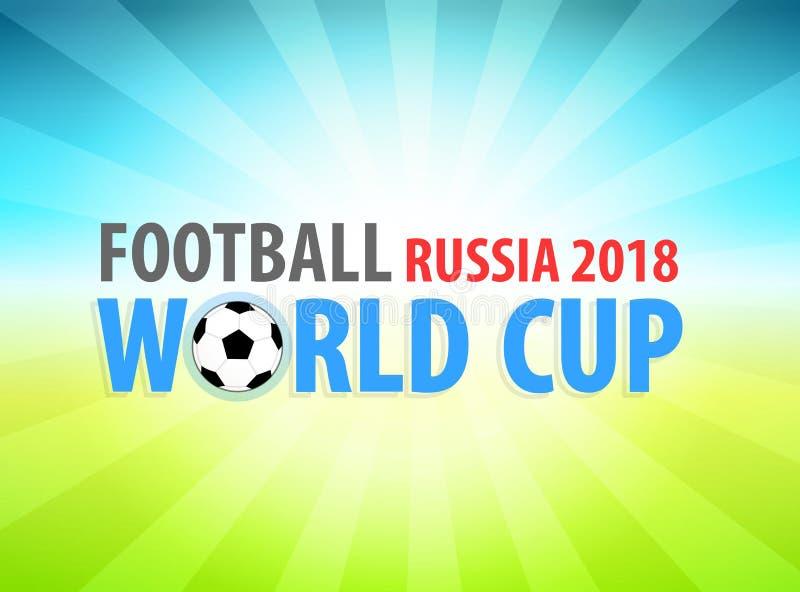 Campeonato do mundo do futebol em Rússia 2018, bandeira do vetor ilustração royalty free