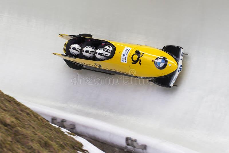 Campeonato do mundo Koenigssee 2016 de Nico Walther BMW IBSF imagens de stock royalty free
