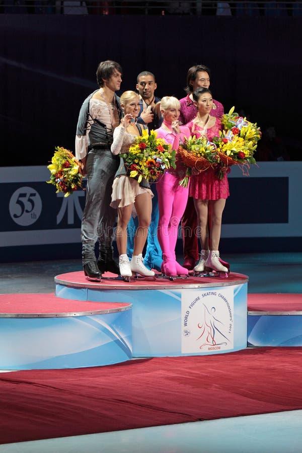 Campeonato do mundo na figura patinagem 2011 imagens de stock