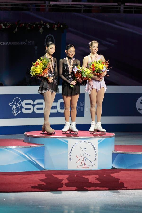 Campeonato do mundo na figura patinagem 2011 fotos de stock royalty free