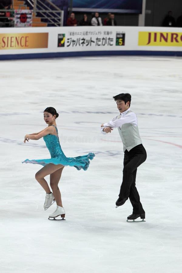 Campeonato do mundo na figura patinagem 2011 foto de stock royalty free