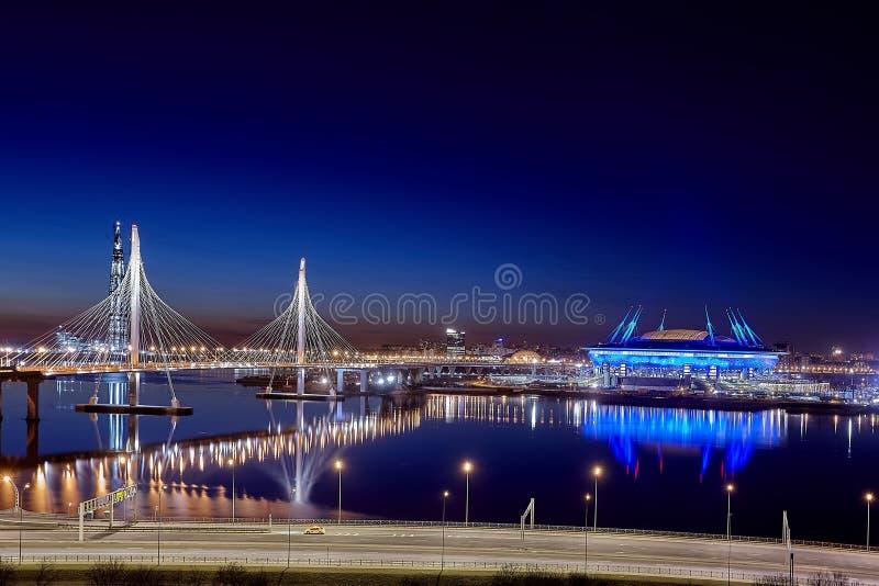 Campeonato do mundo Rússia 2018 do Fifa, estádio St Petersburg da arena de Zenit imagem de stock