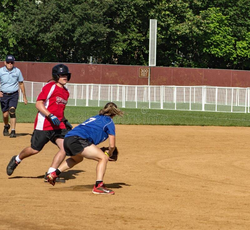 Campeonato do softball de America do Norte dos Olympics especiais imagens de stock royalty free