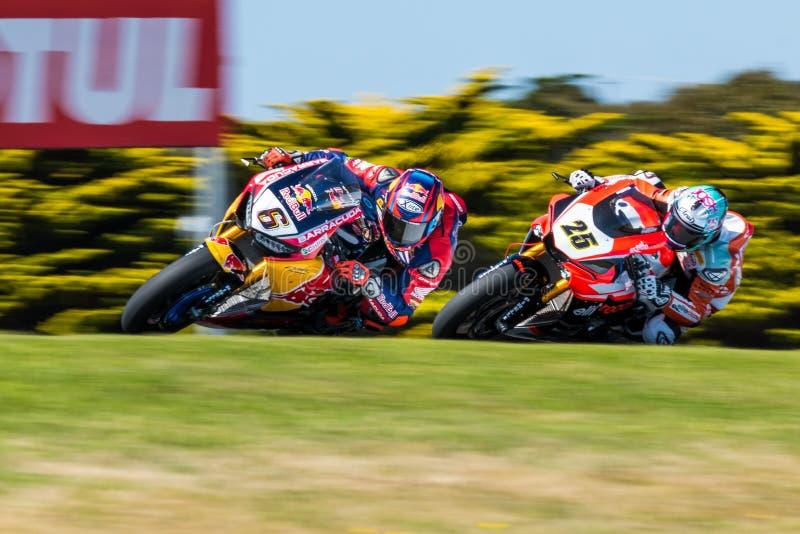 Campeonato do Superbike do mundo de 017 FIM de MOTUL imagens de stock royalty free