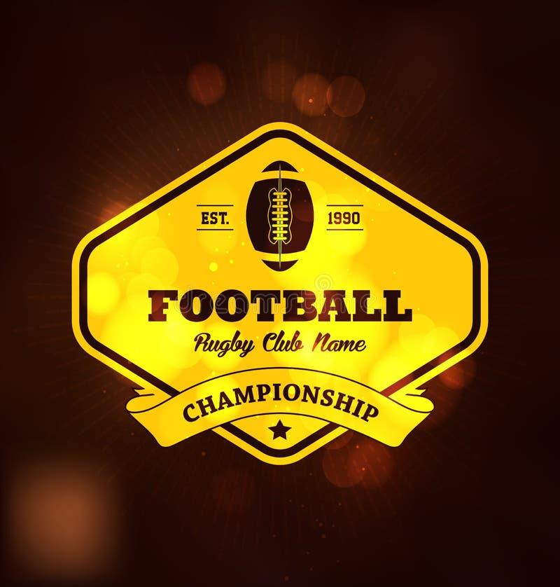 Campeonato dourado Logo Sport do futebol ilustração royalty free