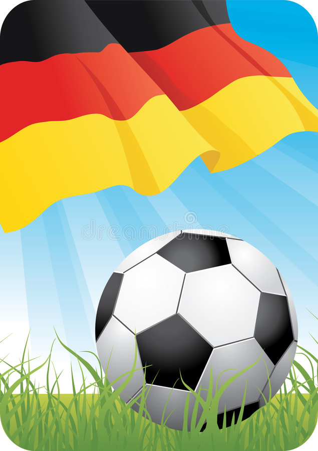 Campeonato europeu 2008 do futebol - Alemanha ilustração royalty free