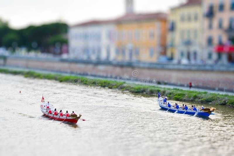 Campeonato histórico de la miniatura de la regata foto de archivo