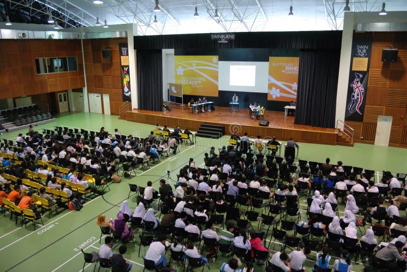 Campeonato interescolar del discusión de Swinburne Sarawak foto de archivo libre de regalías