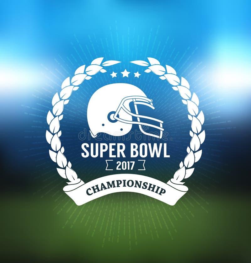 Campeonato Logo Sport Design Template del Super Bowl ilustración del vector